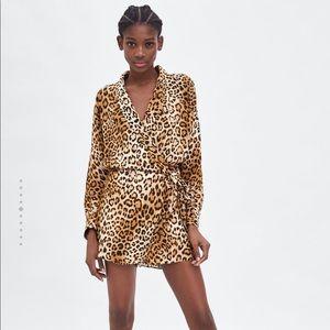 Zara NWT Printed Jumpsuit Dress